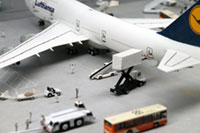 DS144-002 Diorama Sheet (1/144) Airline Terminal Set [Hakoniwagiken 1/144 Aviation Series] Layout Sample Image -hakoniwagiken.com-