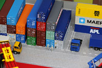 DS150-001 1/150 Container Yard Diorama Sheet Sample layout Image -hakoniwagiken.com-